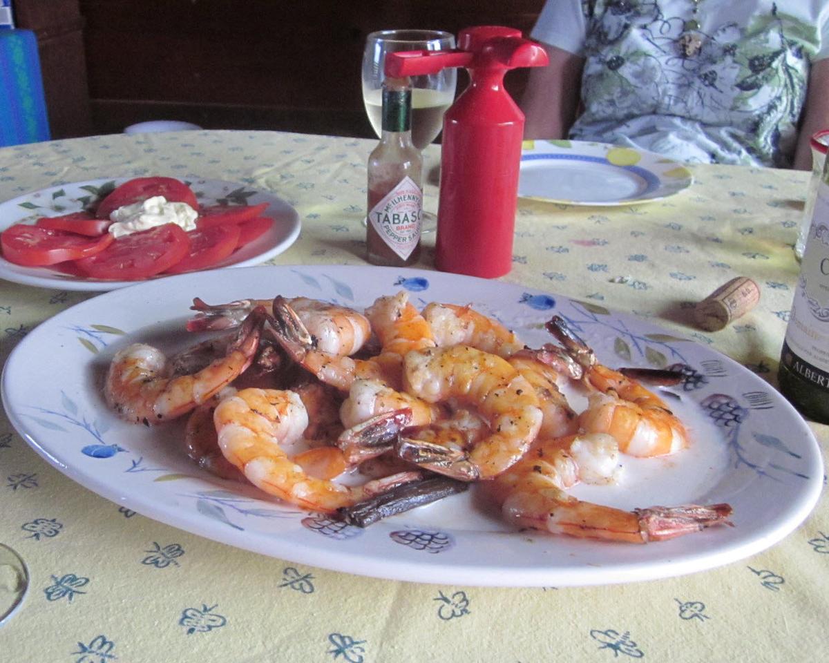 Grilled Shrimp with Savory Tahiti Vanilla Sauce